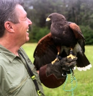 Pete with Hawk